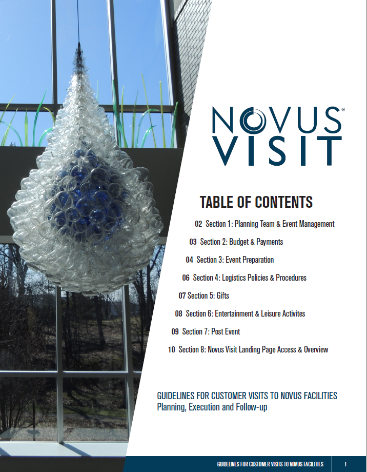 Guidelines for Customer Visits to Novus Facilities